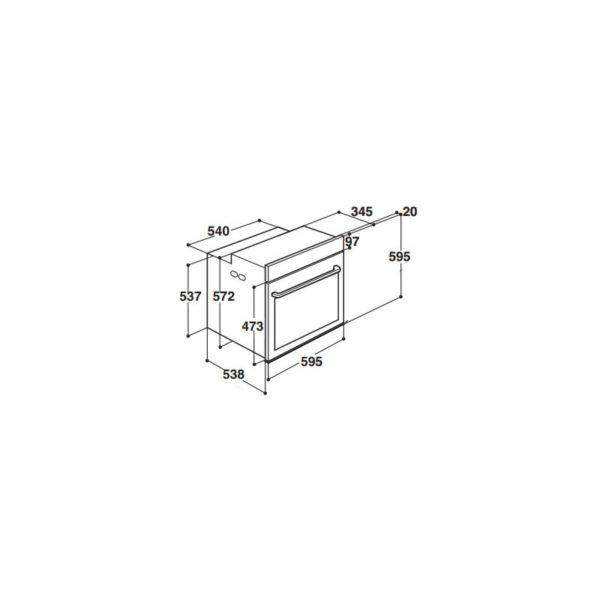 Forno elettrico Bauknecht BLVMS8100PT 15 funzioni